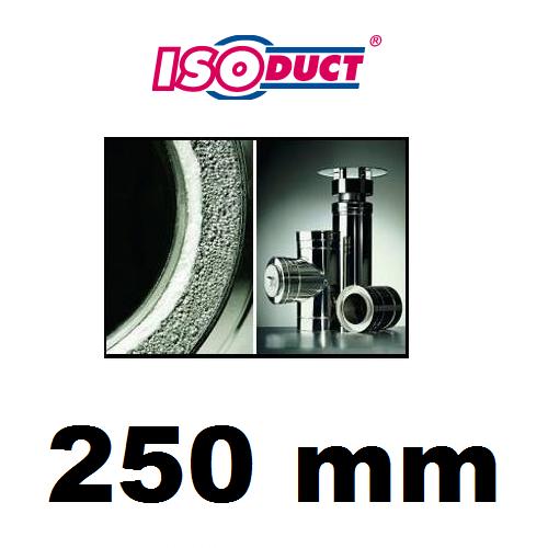 Houtstook enzo isoduct 250 mm rookkanaal dubbelwand