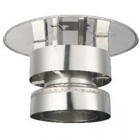 Houtstook enzo ISOduct DW 125 mm trekkende kap incl. topsektie
