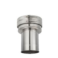 Houtstook enzo rookkanaal isoduct 125 mm dw aansluitstuk met nisbus