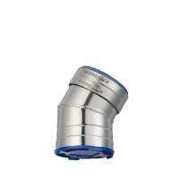 Houtstook enzo rookkanaal isoduct 150 mm dw bocht 30 graden