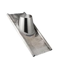 Houtstook enzo rookkanaal isoduct 125 mm dw dakdoorvoer loodslab 40-60 graden