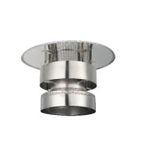 Houtstook enzo ISOduct DW 125 mm trekkende kap incl. topsektie met gaas